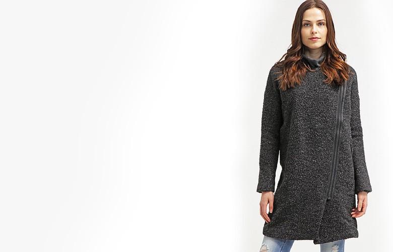 Klasyczny płaszcz wełniany black